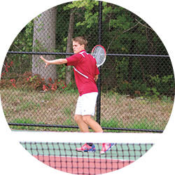 Michael Beluch on the tennis court