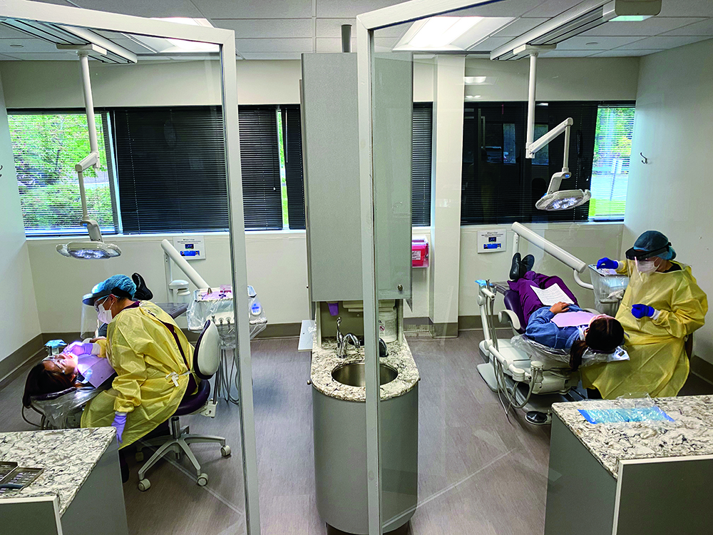 students in PPE at Dental Center